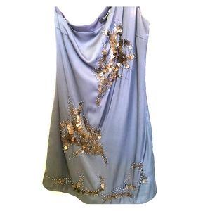 F21 Silver Silk dress
